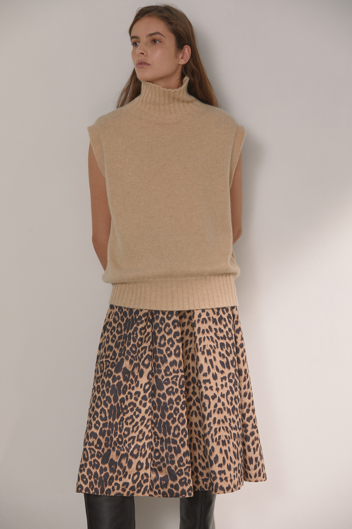 DEMERE LEOPARD PRINTED SKIRT